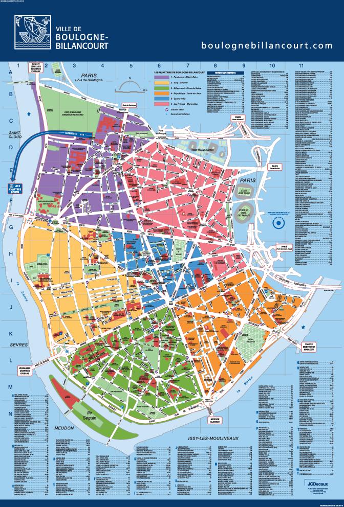 Carte Interactive Des Quartiers Ville De Boulogne Billancourt